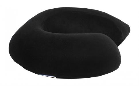 Подушка ортопедическая ТМ LightHouse Ortopedia Travel Color черная 34x33x10