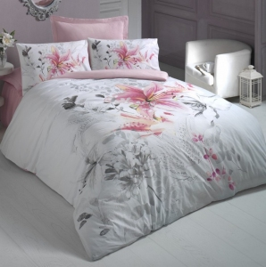 Постельное белье ТМ Cotton Box ранфорс Iris Pembe евро-размер