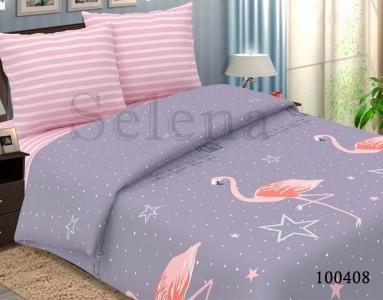 Постельное белье ТМ Selena бязь Звездный Фламинго 100408