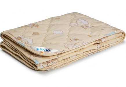 Одеяло детское шерсяное облегченное ТМ Руно бежевое