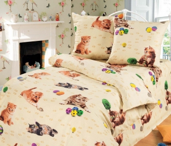 Подростковый постельный комплект ТМ ТOP Dreams Котята