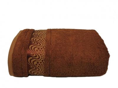 Полотенце ТМ Mariposa Bamboo Aqua 100х150 коричневое