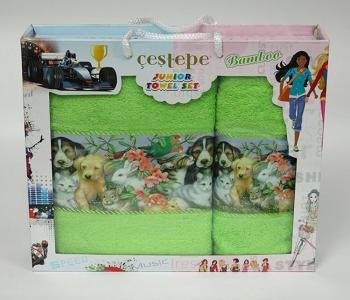 Набор полотенец из 2 штук ТМ Cestepe Bamboo Junior 04