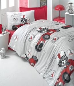 Постельное белье ТМ LightHouse ранфорс Racing Car полуторное
