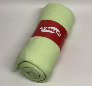 Простынь на резинке с наволочками ТМ Fida Almari махровая green