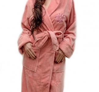 Халат велюровый ТМ Nusa кремовый женский (NS 3655) L/XL размер