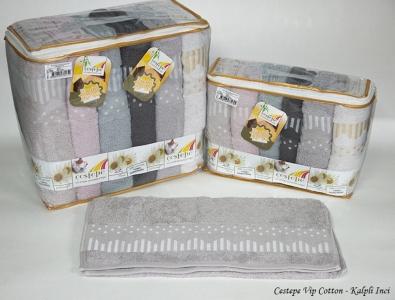 Набор полотенец из 6 штук ТМ Cestepe Cotton Kalpli