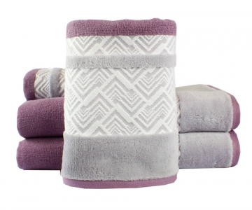 Полотенце махровое Hobby Nazende сливовый с серым