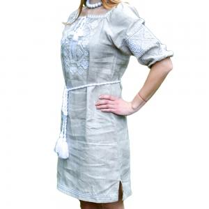 Платье Окошко 1524 серое