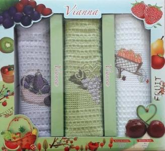 Набор полотенец кухонных 3шт ТМ Vianna (3V006) 45х65