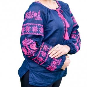 Вышиванка женская Волшебна птица с розовой вышивкой 1037.1