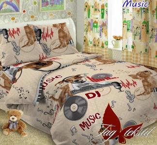 Подростковый постельный комплект ТМ TAG поплин Musik