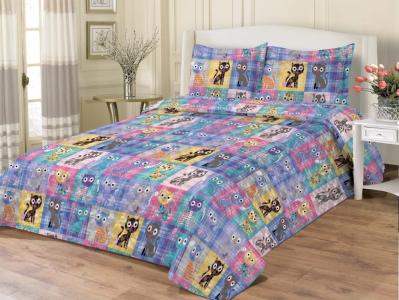 Покрывало хлопковое стеганое ТМ Zastelli Cats bedspread 145x205
