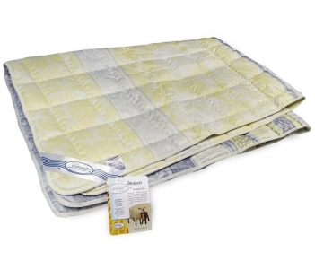 Одеяло межсезонное ТМ Leleka-Textile шерстяное желтого цвета