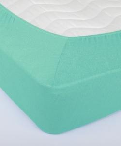 Простынь на резинке махровая ТМ Lotus бирюзовая