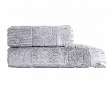 Полотенце махровое ТМ Arya жаккард Frew Grey
