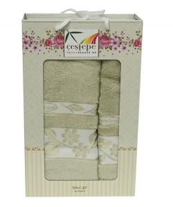 Набор полотенец из 2 штук ТМ Cestepe Bamboo оливковый