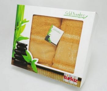 Набор полотенец Turkiz Bamboo песочное