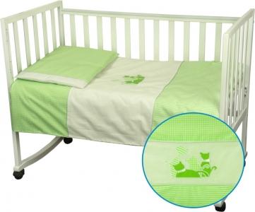 Детский постельный комплект ТМ Руно Котята салатовый