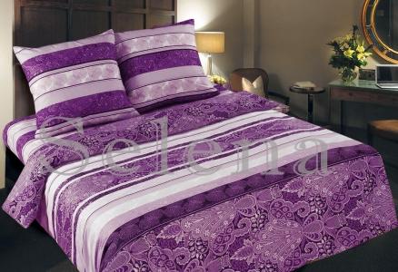 Постельное белье ТМ Selena бязь Восточный Узор Фиолет 100031