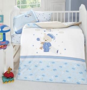 Детский постельный комплект с вышивкой ТМ Luoca Patisca Sleepy