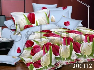 Постельное белье ТМ Selena сатин Тюльпаны
