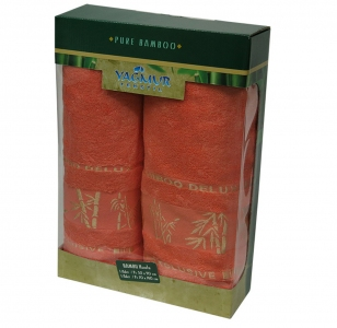 Набор полотенец из 2 штук ТМ Gursan Bamboo corall