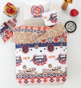 Подростковое постельное белье ТМ Arya Athletic оранжевое