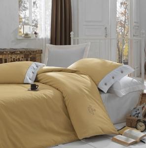 Постельное бельё ТМ Cotton Box ранфорс Plain Karamel евро-размер