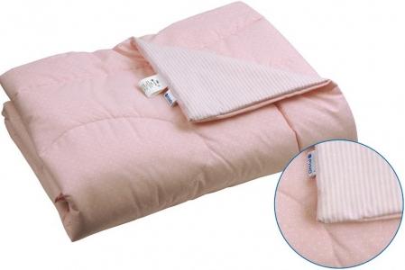 Одеяло детское хлопковое стеганое ТМ Руно розовое