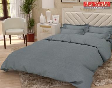 Льняное постельное белье ТМ La Scala L-02 евро-размер