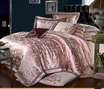 Постельное белье сатин-жаккард ТМ Bella Villa J-0022 евро-размер