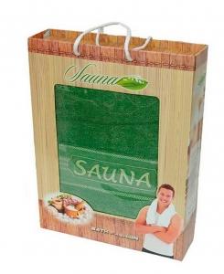 Полотенца производства Турция 100х170 сауна зелёное