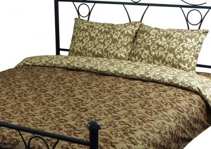 Постельное бельё ТМ Руно 0567 Beige brown евро-размер