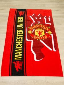 Полотенце велюровое пляжное Турция Manchester-United 75х150 см