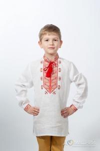 Вышиванка для мальчика Гетман красная 3002