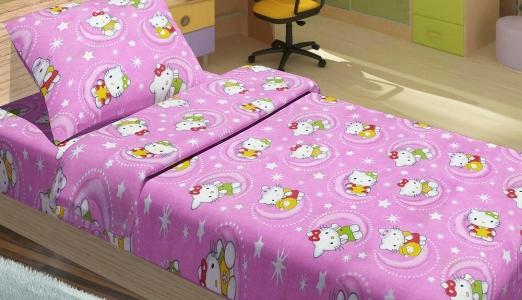 Подростковое постельное бельё ТМ Lotus ранфорс Hello Kitty Star V1 Розовый