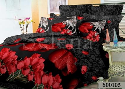 Постельное белье ТМ Selena Лилея поликоттон Тюльпаны 600105
