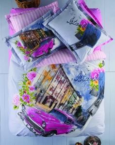 Постельное бельё ТМ Karaca Home ранфорс Cihangir евро-размер