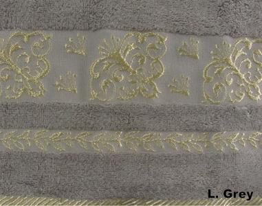 Полотенце ТМ Arya бамбук Sarmasik светло-серое 70Х140