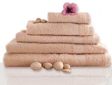 Полотенце махровое ТМ Novita гладкокрашенное beige