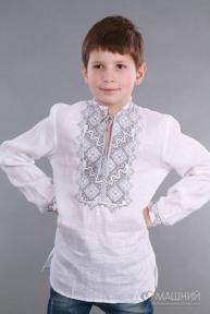 Вышиванка для мальчика 2004 серая вышивка