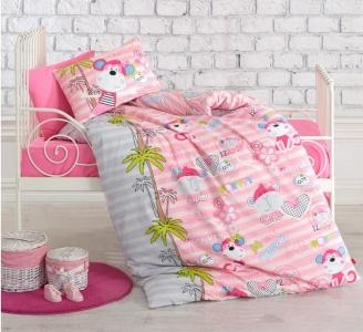 Детский постельный комплект ТМ Cotton Box ранфорс Maymunlar Pembe
