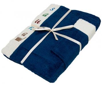 Набор ТМ Gursan для сауны мужской 3-х предметный темно-синий