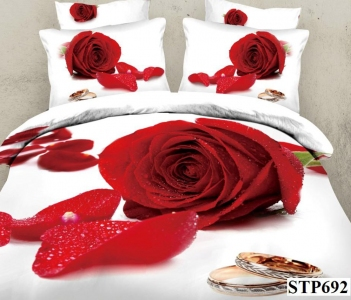 Постельное бельё ТМ Love You Аморе STP692 евро-размер