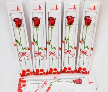Полотенце в подарочной упаковке ТМ Yagmur Роза 50х90см
