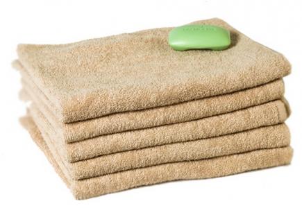 Махровое полотенце Узбекистан 410г/м2 капучино 50x90см