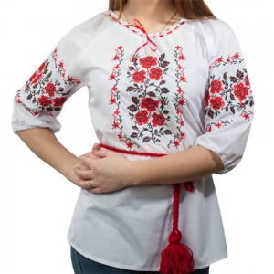 Женская вышиванка Рушничок белая 1005