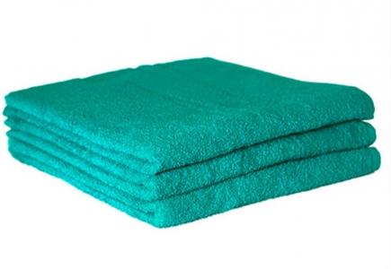 Махровое полотенце Узбекистан 420г/м2 морская волна 70x140см