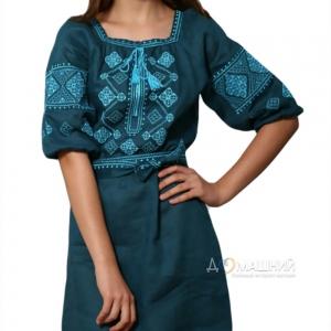 Платье Окошко 1521 зеленое